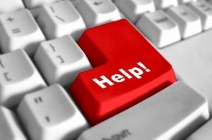 "The enter button on a keyboard says, ""help"" instead."